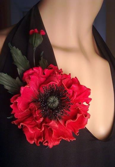 цветы из кожи выкройки