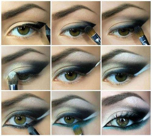 Картинки по запросу макияж кошачий глаз пошагово
