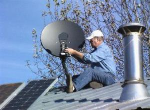 Setting satellite dish price