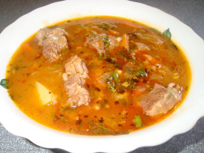 Soup kharcho recipe cooking in a slow cooker