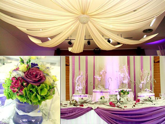 идеи украшения свадебного зала