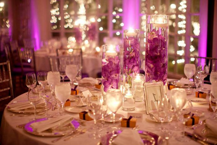 beautiful decoration of the wedding hall