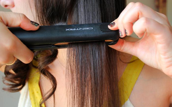 как выпрямить волосы утюжком без вреда