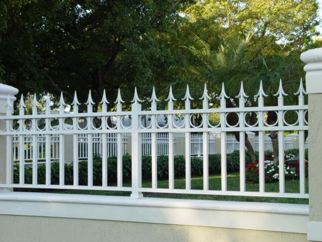 installation of metal fence fence