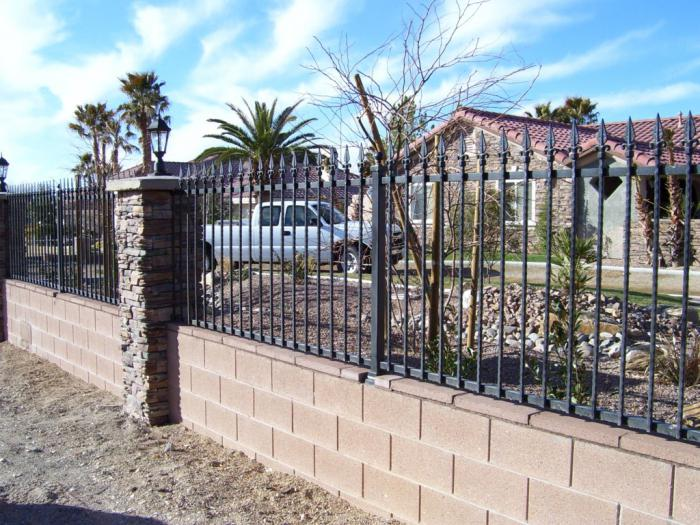 fence for giving a metal picket fence