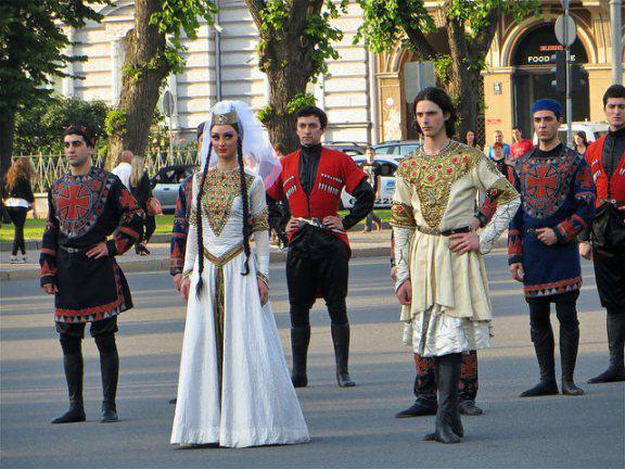 Caucasian wedding organization