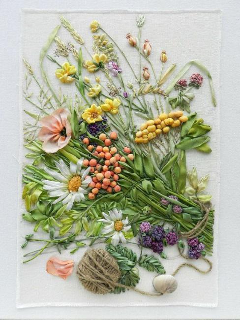 композиции из искусственных цветов своими руками