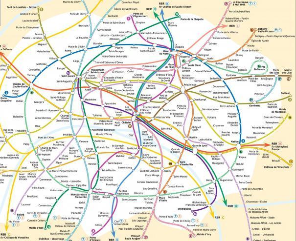 Линии метро Парижа интересны