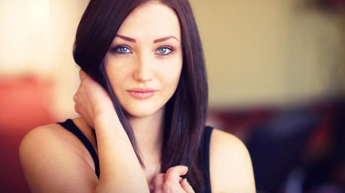 брюнетки с голубыми глазами фото