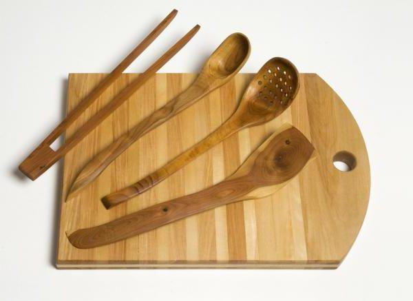 Посуда из дерева для кухни своими руками 6