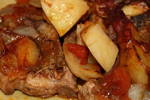 Тушёная картошка с ребрышками в мультиварке пошаговый рецепт