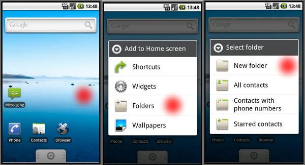 how to create a folder on android