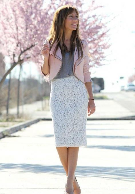 pencil skirt with what to wear