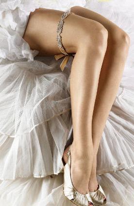 Зачем нужна подвязка невесте на ногу