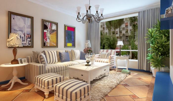 интерьер в средиземноморском стиле в квартире