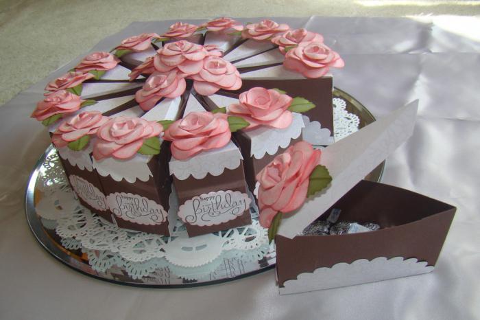 Тортики из бумаги