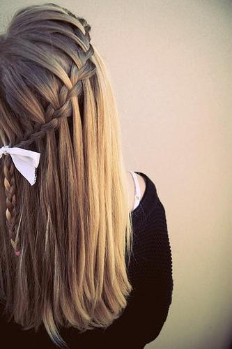 как заплести косу водопад самой себе