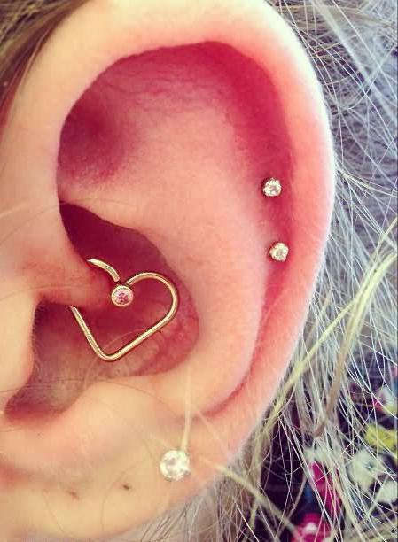 after piercing the cartilage of the ear