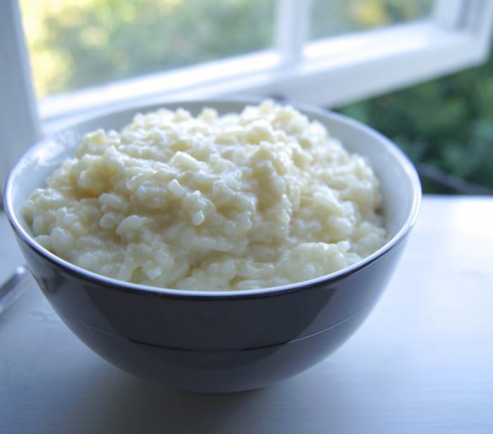 rice porridge on the water