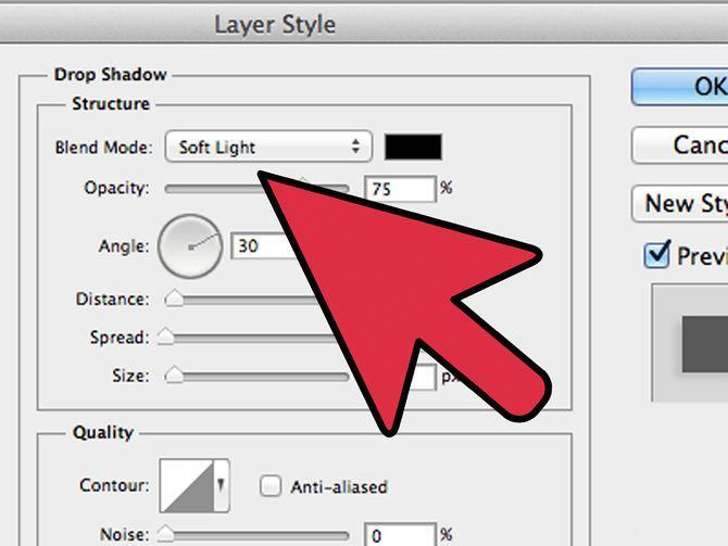 Как в фотошопе сделать тень для текста
