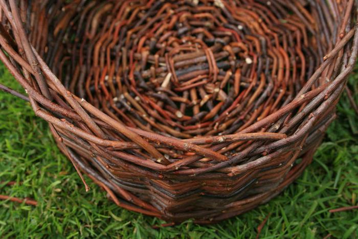 Плетение из ивы  фото и инструкция