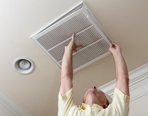 ventilation ducts in a private house