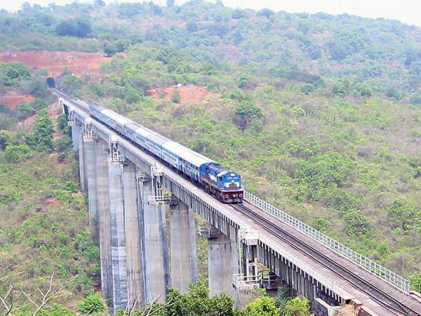 the highest railway bridge in the world