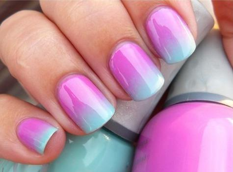 how to make a gradient on nails varnish