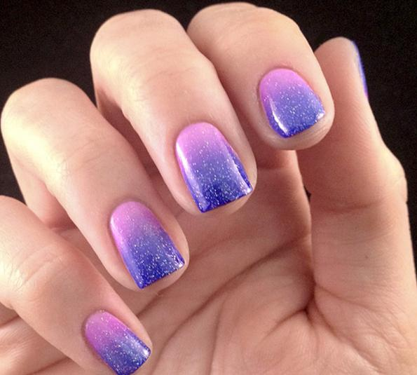 how to make a gradient gel on the nails
