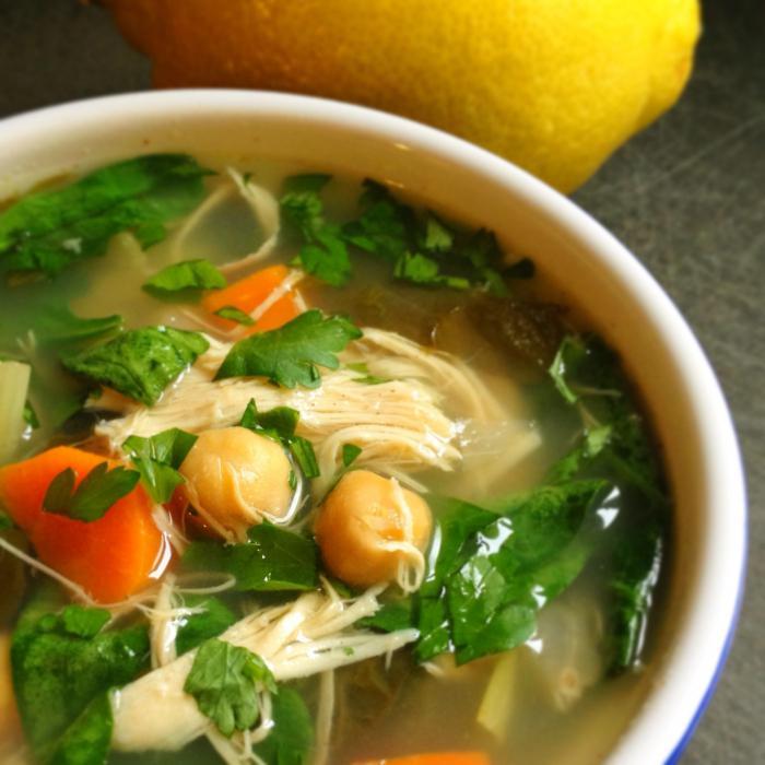 Суп с курицей без картошки рецепт с