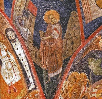 fresco on the wall