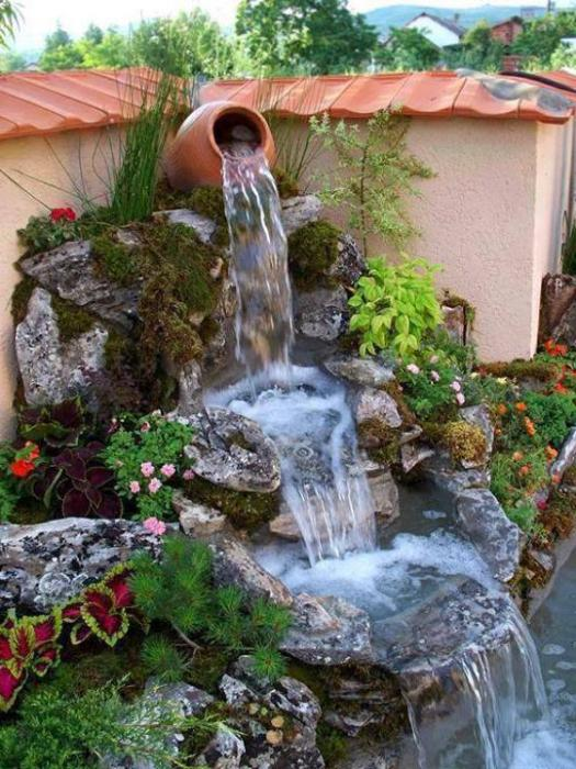 how to make a fountain in the country