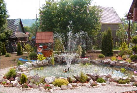 fountain in the country with their own hands