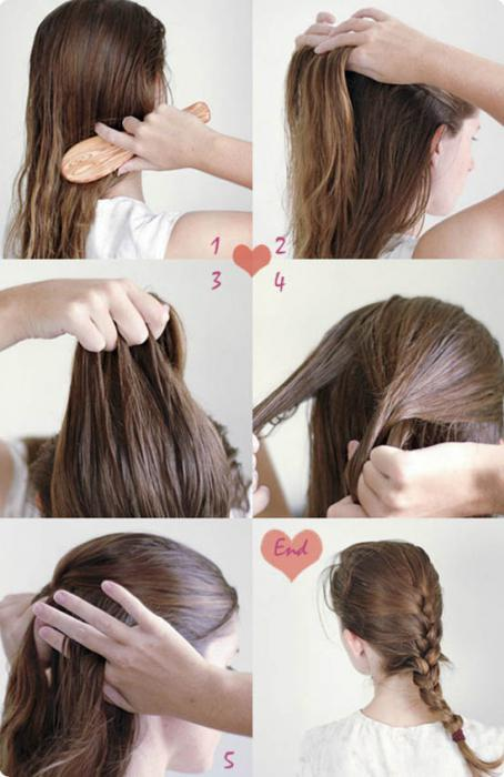 simple hairstyles for medium hair photo