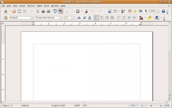 программа открыть файл odt