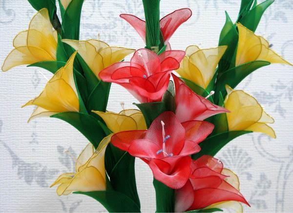 Поделки из капрона и проволоки цветы