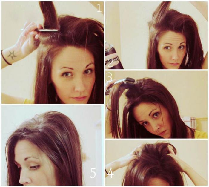 Начес на волосах как сделать