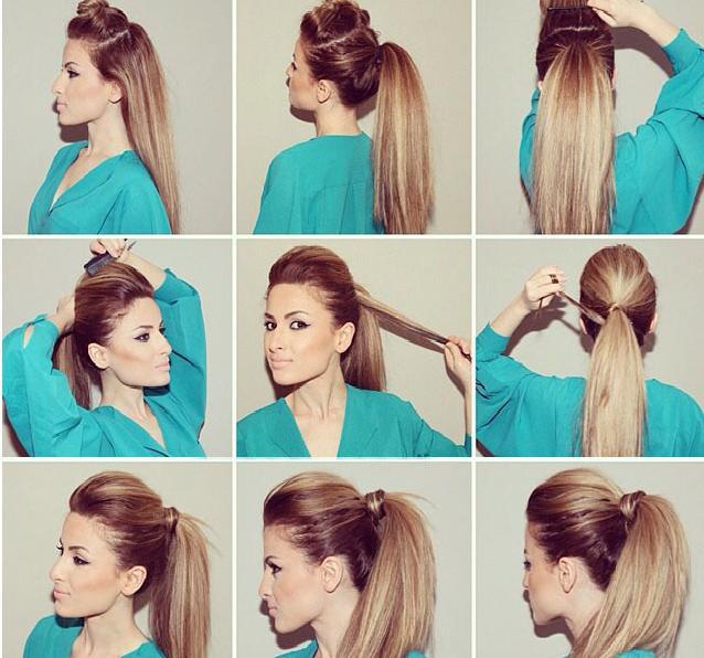 прически с начесом на длинные волосы