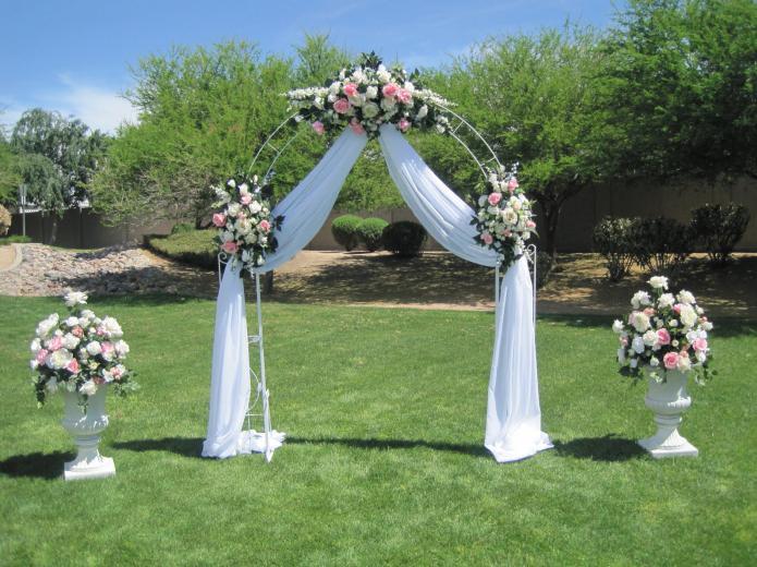 Арки на свадьбу своими руками видео