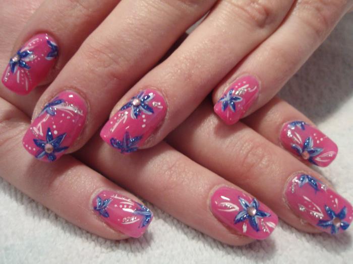 Как рисовать на ногтях перышки