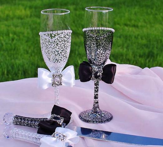 Мастер класс оформление бокалов для свадьбы своими руками фото 199