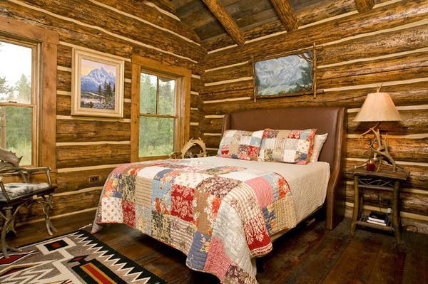 Дизайн сельских домов в комнатах