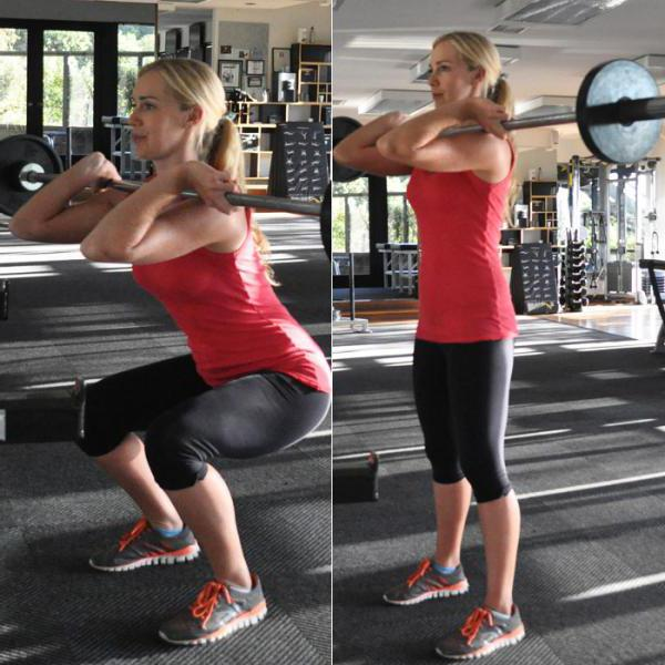 front squatting