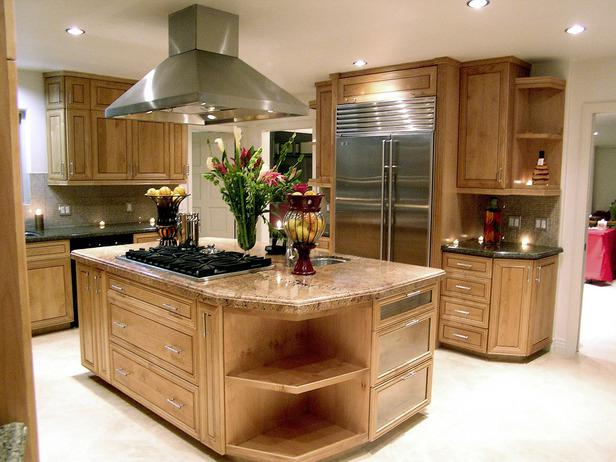 kitchen interior with an island