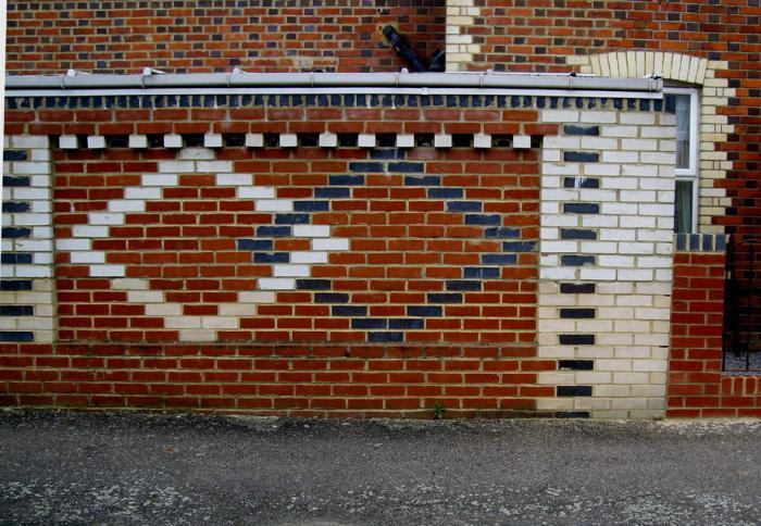 Узоры на кирпичных домах фото