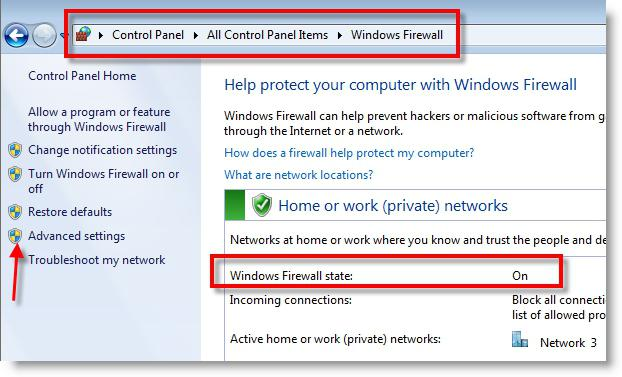 how to prevent the program to access the Internet by firewall