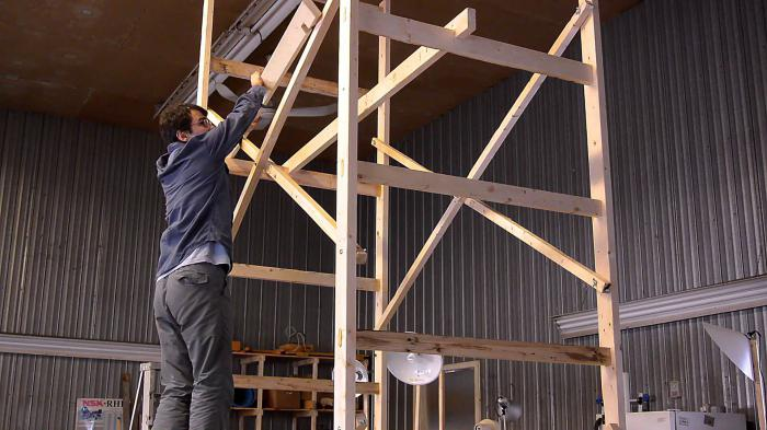 how to make scaffolding with your own hands