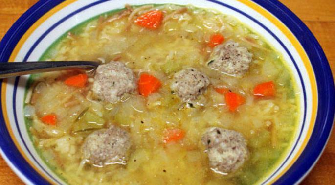 Как из куриного фарша сделать суп с фрикадельки из фарша