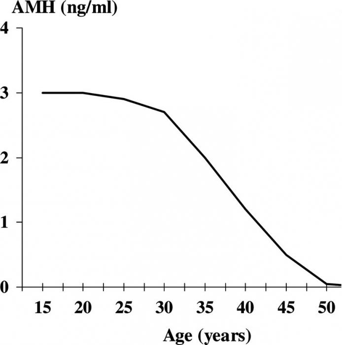Как определить возраст менопаузы по амг