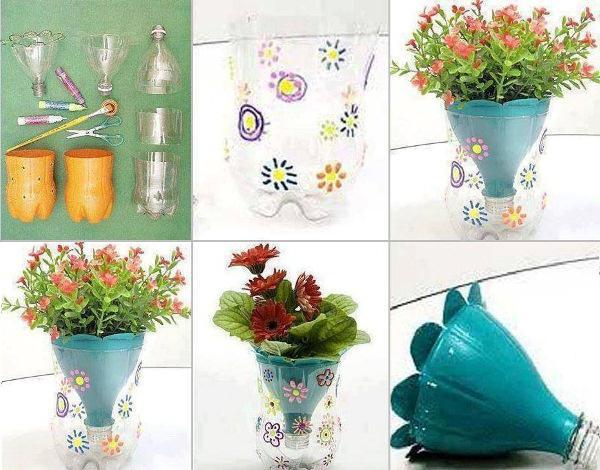 Как из полторашки сделать вазу